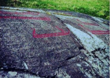 Hällristningar vid Jätteberget